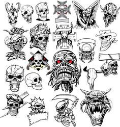 There are such a lot of tattoo designs and classes for tattoo lovers .Through which Cranium tattoos is exclusive one fashion of tattoo.Cranium Tattoo designs are the wonderful and unusual tattoo designs. Small Skull Tattoo, Skull Tattoo Design, Skull Design, Skull Tattoos, Web Design, Skull 3d, Skull Face, Skull Stencil, Wall Stickers Vector