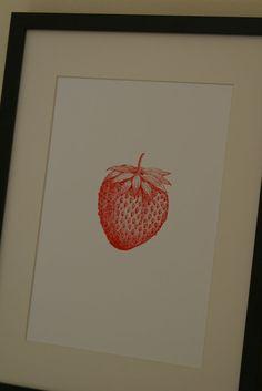 screen printed strawberry!