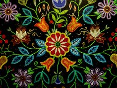 - - - Growing up, I knew I was mixed. I knew my mother and my father came from different backgrounds; my mother looked different than my father. She is Nativ Mandala Painting, Dot Painting, Mandala Art, Folk Art Flowers, Flower Art, Beaded Moccasins, Indian Tapestry, Beadwork Designs, Native Beadwork