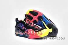 f91b2b1958a67 Nike Air Foamposite One Colorful Red Black Blue Green Purple TopDeals