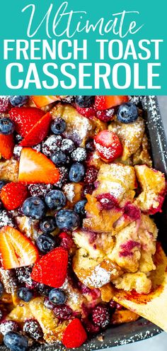 16 Persimmon Recipes for Winter - PureWow This Lighter French Toast Casserole can be stored overnight and cooked fresh in the morning - serve with berries and maple syrup for a delicious make ahead breakfast! Make Ahead French Toast, Healthy French Toast, Baked French Toast Overnight, French Toast Bake, Blueberry French Toast Casserole, Baked French Toast Casserole, Cheese Burger, Breakfast Dishes, Breakfast Recipes