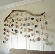 Driftwood Shell Hanging Sculpture by InSeaSun on Etsy, $300.00