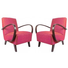 Pair of Art Deco Armchairs, circa 1930 by Jindrich Halabala | From a unique collection of antique and modern armchairs at https://www.1stdibs.com/furniture/seating/armchairs/