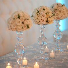 Tall White Floral Arrangements