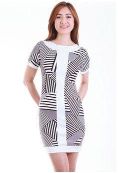 Cressida Monochrome Sheath Dress