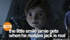 #279 - the little smile jamie gets when he realizes jack is real