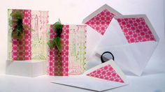 Matching lined envelopes and cards!