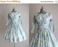 25% Off Storewide Vintage 1950s Dress / 50s by TuesdayRoseVintage