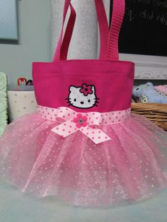 Cute Kitty Mini Tutu Tote Bag. $18.00, via Etsy.
