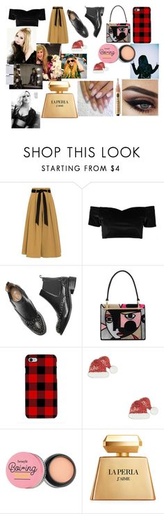 """Night out with Avril"" by larryandtarillforeverr14 ❤ liked on Polyvore featuring Temperley London, Boohoo, Prada, Samsung, La Perla and Vanity Fair"