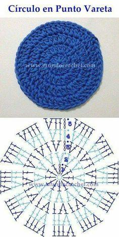 Como Tejer Un Circulo Perfecto A Crochet - Diy Crafts Crochet Diagram, Crochet Chart, Knit Or Crochet, Crochet Motif, Crochet Doilies, Crochet Round, Crochet Squares, Granny Squares, Crochet Stitches Patterns