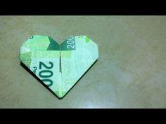 Tutorial de origami: cómo hacer un corazón con un billete - Hacer un corazón de origami paso a paso - YouTube