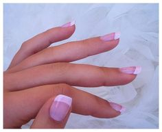 Light pink french manicure - can over shimmer over it as well
