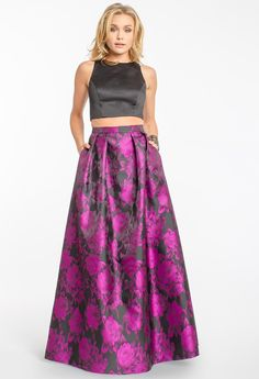 TWO-PIECE FLORAL BALLGOWN #ballgown #two-piece #floral #camillelavie #groupusa #longdress #pretty #chic