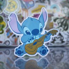 Stitch Playing ukulele Sticker