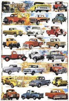 Pick-Up Trucks, 1931-1980 Poster at AllPosters.com