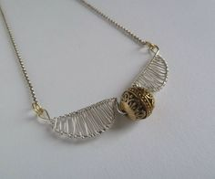 When I was thinking of what I could make, I first googled images of 'TARDIS siege mode' . What has that to do with this golden snitch necklace, you might ask. Well,...