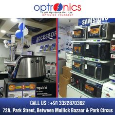 Optronics:- One of the leading Showroom in Kolkata. Venue: 72A, Park Street Phone: +91 3322870362