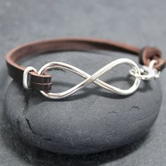 HEAVY INFINITY COW Leather Bracelet for by RoyalCountess on Etsy, $89.90