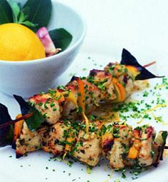 Recipes from The Nest - Lemon Chicken Kebabs with Gremolata