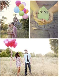 Up Up & Away! Balloons can be romantic :) #photography #engagement