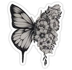 'Butterfly Tattoo Shawn Mendes' Sticker by merchal - Best Picture For tiny tattoo For Your Taste You are looking for something, and it is going to tel - Line Tattoos, Flower Tattoos, Black Tattoos, Butterfly With Flowers Tattoo, Butterfly Tattoo Cover Up, Cover Up Tattoos For Women, Tattoos For Women Half Sleeve, Wrist Tattoos Women, Marigold Tattoo