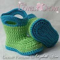 Crocodile Stitch Booties (Baby Sizes) Pattern