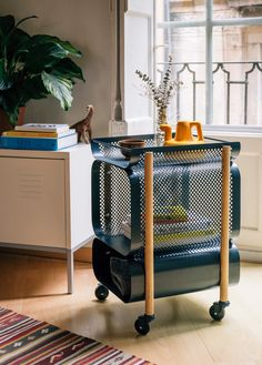 """As impressive in its functionality as it is in its blend of industrial and creative modern design, the Morris Cabinet made by Gravina fits into both office or home spaces. The Barcelona-based studio aims to create """"objects to build bounds with; objects that one would want to keep forever,"""" and the cabinet illustrates this goal …"""