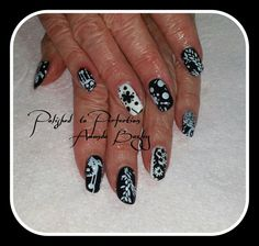 Gel Polish on Natural Nails with Design x
