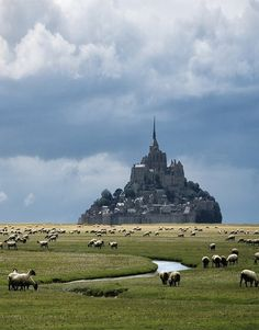 The striking Mont Saint-Michel in Normandy, France.