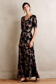 Florette Maxi Dress by Anthropologie. Not unlike a dress from the Gucci prefall 2015 collection.