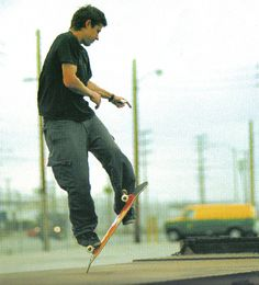 Rodney Mullen - a creative genius. He's a math & physics genius, likely-autistic and greatest skateboarder in history.
