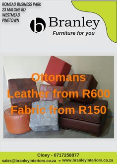 Wholesale furniture in Durban, South Africa. Branley offers quality and affordable leather and fabric couches, lounge suites, armchairs, ottomans and more. Furniture For You, Quality Furniture, Lounge Suites, Wholesale Furniture, Leather Ottoman, Ottomans, Interiors, Pop, Store