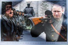 Календарь с изображением мировых лидеров