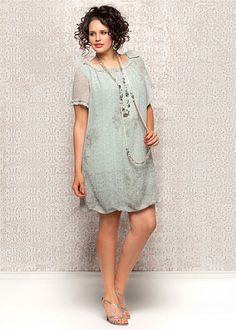 Big Sizes Womens Clothing | Clothes for Larger Size Women - MINTED ROSE PUFF DRESS - TS14