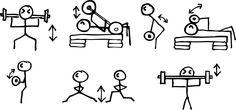 Les Mills Bodypump <3= stick people way.....