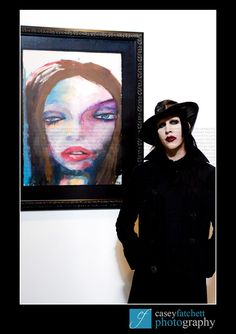 {Marilyn Manson} Marilyn Manson and his artwork