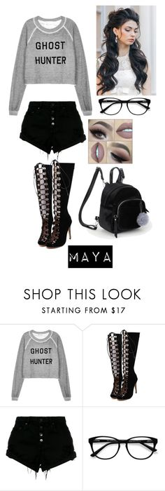"""""""Maya"""" by emilyramme ❤ liked on Polyvore featuring Lauren Conrad, Wildfox, WithChic, Nobody Denim and EyeBuyDirect.com"""