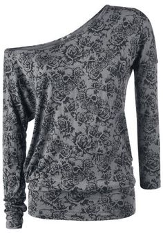 Skull & Roses Top by Black Premium ~ EMP