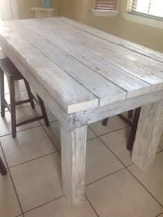 Distressed Kitchen Table Made By Yours Truly Love It Tables Picture