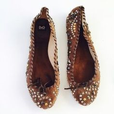 I just discovered this while shopping on Poshmark: Dolce & Gabbana authentic studded flats Sz 10. Check it out!  Size: 10
