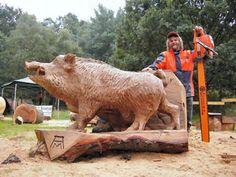 Der Sauensäger Chainsaw Wood Carving, Wood Carving Art, Wood Sculpture, Sculptures, Art Beauté, Tree Carving, Wood Stone, Wood Creations, Whittling