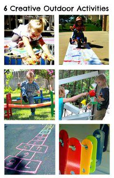 Kids Co-Op: 6 Creative Outdoor Activities Summer Activities For Kids, Summer Kids, Outdoor Activities, Fun Activities, Preschool Ideas, Projects For Kids, Crafts For Kids, Kids Things To Do, Outdoor Classroom