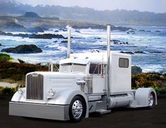 Peterbilt 281 Custom Riding Around and Highway. Maserati, Bugatti, Lamborghini, Show Trucks, Big Rig Trucks, Old Trucks, Custom Big Rigs, Custom Trucks, Mercedes Benz