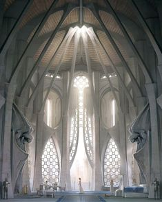 Demacia Chamber by North Front Studio Fantasy City, Fantasy Castle, Fantasy Places, Fantasy World, Fantasy Concept Art, Fantasy Artwork, Nature Architecture, Throne Room, Fantasy Setting