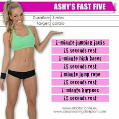Anywhere 5 minute workout