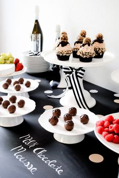 toast 2014 with chocolate & champagne!  |  Chocolate Tasting Party Inspiration
