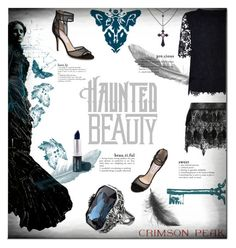 """Indulge Your Dark Side with Crimson Peak : Contest Entry"" by milica1940 ❤ liked on Polyvore featuring Warehouse, Monique Lhuillier and vintage"