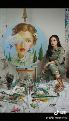 Pintura Graffiti, Diy Canvas Art, Gouache Painting, Acrylic Art, Watercolor Art, Watercolor Portrait Tutorial, Painting Techniques, Art Tutorials, Cute Art