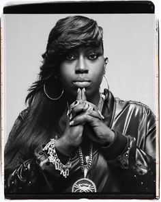 Missy Elliot, long layered sideswept fringe with a shaved side. Round or oval…